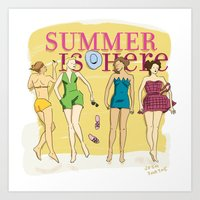 Summer is Here. Art Print