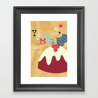 Yummy Christmas Pudding! Framed Art Print