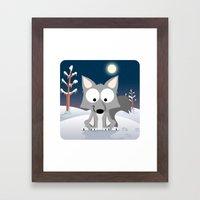 Woodland Animals Series II. wolf Framed Art Print