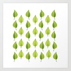 Little Lilac Leaf Art Print