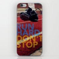 Run Hard. iPhone & iPod Skin