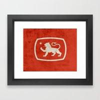 LionStar Framed Art Print