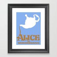Alice In Wonderland Framed Art Print