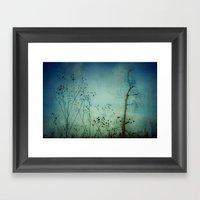 Fleeting Moment - Blue Shades Framed Art Print