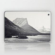 Glacier Mountain Lake Black and White Laptop & iPad Skin