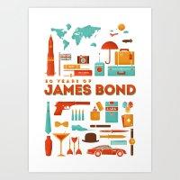 James Bond 50 Years  Art Print