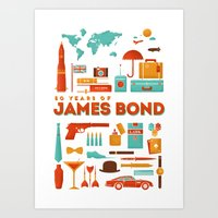 James Bond 50 Years  Art Print