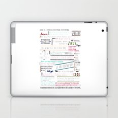 Thoughts of the Day Laptop & iPad Skin