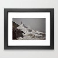 Wild Welsh Waves Framed Art Print