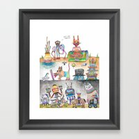 Estos Cabrones Framed Art Print