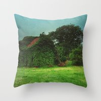 house with ghosts  Throw Pillow