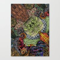 Psychedelic Botanical 10 Canvas Print