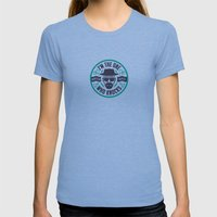 I'm The One Who Knocks Womens Fitted Tee Tri-Blue SMALL