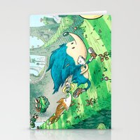 Starring Sonic and Miles 'Tails' Prower (Blue Version) Stationery Cards