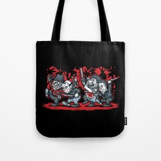 Where the Slashers Are (Grayscale) Tote Bag