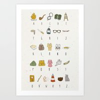 moonrise kingdom Art Prints featuring Moonrise Kingdom by Studio Hörtie / Alix Leroy