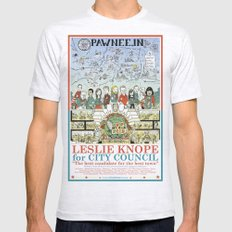 Leslie Knope for City Council - Parks and Recreation Dept. Mens Fitted Tee Ash Grey SMALL
