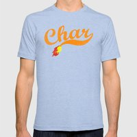 Char Mens Fitted Tee Tri-Blue SMALL