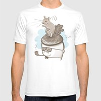 Goodbye Acorn Head Jim Mens Fitted Tee White SMALL