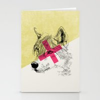 Techno Wolf Stationery Cards