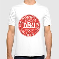 Denmark Football Mens Fitted Tee White SMALL