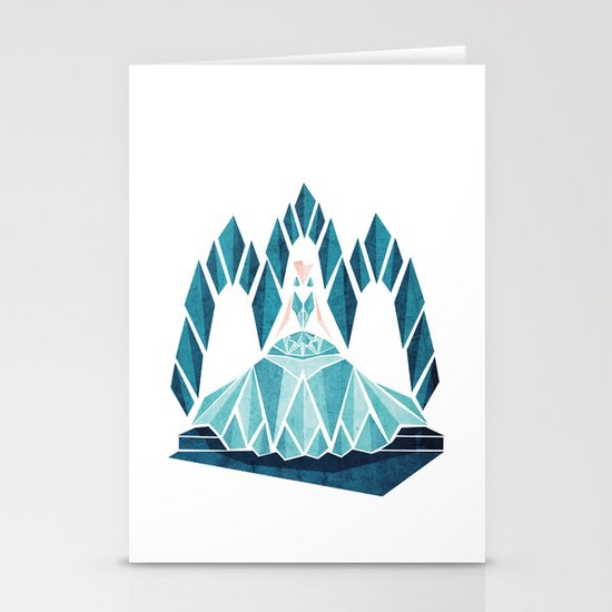 Waiting ( The Snow Queen ) Stationery Card
