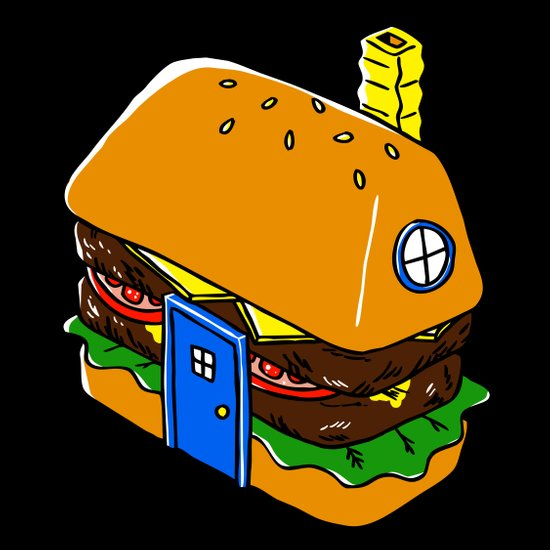 Burger House Art Print