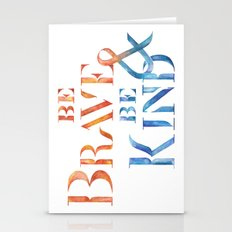 Be brave and Be kind #typo Stationery Cards