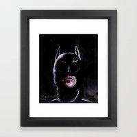 Gotham's Knight Framed Art Print