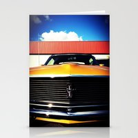 Orange Mustang  Stationery Cards