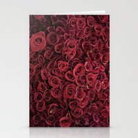 Flower Market 3 - Red Roses Stationery Cards