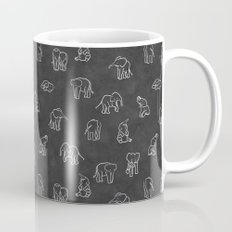 Indian Baby Elephants Blackout Mug