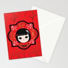 The Lunar New Year-Little girl Stationery Cards