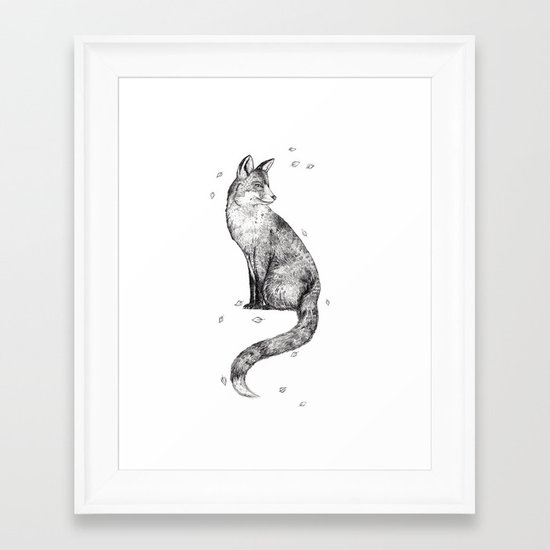 Foa // Graphite Framed Art Print