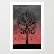 Skull Tree II  Art Print