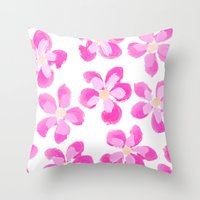 Posey Power - Fuxia Multi Throw Pillow