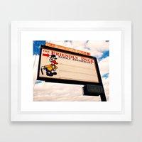 The Friendly Duck Restaurant Framed Art Print