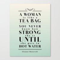 Strong Tea Canvas Print