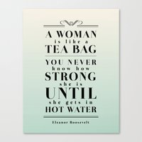 Strong Tea Canvas Print