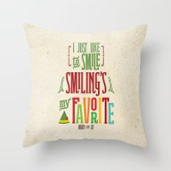 Buddy The Elf! Smiling's… Throw Pillow