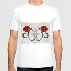 Spread Love Mens Fitted Tee SMALL White