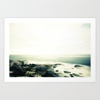 Bondi Rocks Art Print