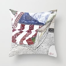 Keep on Rockin' in the Free World Throw Pillow