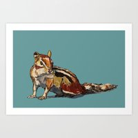 Chipmunk For You Art Print