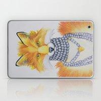 Fox Fur and Pearls Laptop & iPad Skin