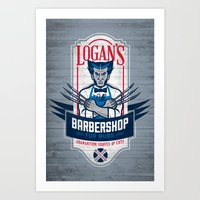 Logan's Barbershop Art Print