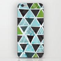 Tribal Triangles - aqua iPhone & iPod Skin