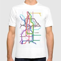 London Underground Mens Fitted Tee White SMALL