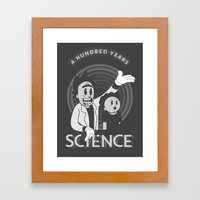 A HUNDRED YEARS SCIENCE Framed Art Print