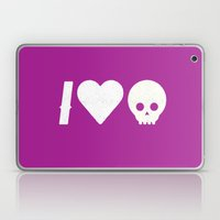 I Love Skulls Laptop & iPad Skin